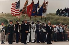 """BILL CLINTON & FRANCOIS MITTERRAND in """"The 50th Anniversary of D-Day"""" - Photo"""