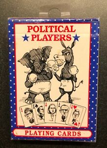 Political Players Playing Cards - Caricatures - 1996 - NIB - historical!