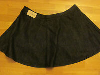 next ladies black denim flare short skirt size 18 eur 46 brand new with tags