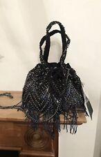 Zara Handmade Multicolour Beaded Fringed Bag Bnwt