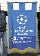 Stadionflagge vom UEFA Champions League Finale 2002 in Glasgow Real-Bayer 04 2:1