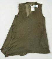 NWT Cable & Gauge Women's Stretch Viscose Army Green Tank Top Shrug Sweater XL