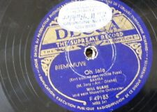 78 rpm WILL GLAHE MUSETTE ORCH oh lala / caramba nur samba