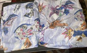 "Yu-Gi-Oh Twin Sheet Flat Sheet - It's your move - Let's Duel 1996 - 64"" x 92"""