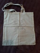 Light weight linen bag printed with flower transfer for embroidery