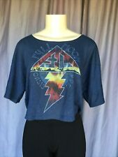 OASIS 1989 Full Moon Blue Cropped T-Shirt Size XS/S
