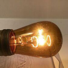 Vintage General Electric Amber Translucent Glass 10 Watt Light Bulb GE