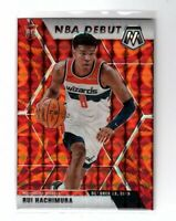 2019-20 Panini Mosaic NBA Debut Reactive Orange Prizm Rui Hachimura #275 Rookie