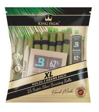 25X KING PALM WRAPS XL SIZE 100% LEAF ROLLS CORN HUSK FILTER BOVEDA HUMIDITY