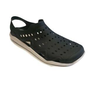 CROCS Swiftwater Wave M Sandal Shoes Flat Water Shoes Black Mens Size 10