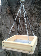 Mini Cedar Platform Screen Bird Feeder, w/Chains