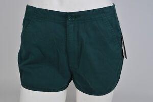 NWT WOMENS VOLCOM STONEY SHORTS $40 S evergreen cotton running style