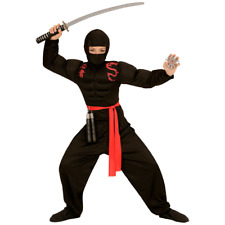 1133055-widmann 1551 - Super Ninja Muscoloso Nero/rosso 140 cm 8-10 anni