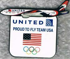 Nice 2016 Rio United Airlines Semi Cut-Out USA Olympic Team NOC Sponsor Pin