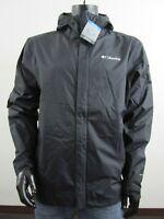 Mens Columbia XS-S-M-L-XL Timber Pointe II Waterproof Hooded Rain Jacket Black