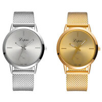 Lvpai Womens Quartz Stainless Steel Wrist Watch Round Simple Lady Analog Watch
