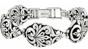 NWT Brighton ROCCOCO Silver Teardrop LInk Statement Bracelet MSRP $74