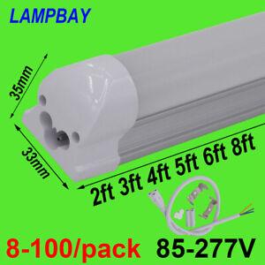8-100/pack LED Tube Light T8 Integrated Bulb Fluorescent Lamp Fixture 110V 220V