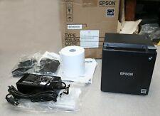 New Listingepson Tm M30 012 M335b Black Thermal Pos Receipt Printer Usb Ethernet Bluetooth