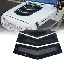 Xprite Black Viper Hood Vents & Louver for 07-18 Jeep Wrangler JK JKU