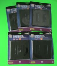 Lot of 5 Monster Brush Wall Plate Double 2 Gang BLACK Cable Entry Access Strap
