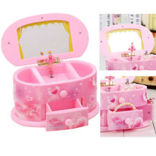 Pink Music Box Beautiful Ballet Dancer Doll Jewelry Box for Girls Children Gift