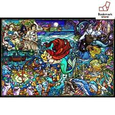 New Disney 1000 Piece Jigsaw Puzzle Little Mermaid Story Stained Glass F/S