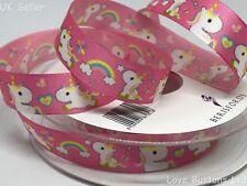 3 M Berisfords Unicorno Rosa Nastro Design Esclusivo Per Cucito Artigianato Nursery