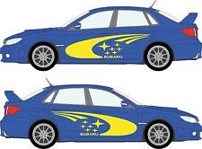 SUBARU Impreza WRC Rally Adesivo Vinile KIT. SERIE completa! Ombra Transfer/GRAFICA