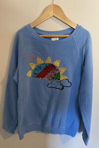 Girls Next Blue Rainbow Sequin Jumper Top Sweatshirt Age 9 Years