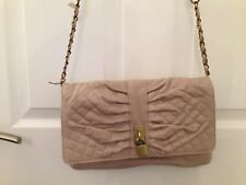 Ladies Beige Atmosphere Shoulder Bag/ Handbag - Size Small