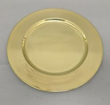 Brass Charger Plates Set of 6 With Concentric Circles On Border Home Decor 3e6a8fecb