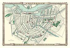 George Bradshaw'S CONTINENTAL Piano della città di Amsterdam 1896 - 1000 Pezzo Puzzle