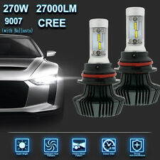 9007 270W 27000LM LED HEADLIGHT Kit HI/LOW COMBO BEAM WHITE 6000K BULBS BALLASTS