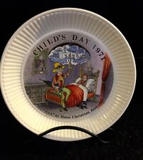 Wedgewood Child's Day Collectible Plate 1971 Sandman Hans Christen Andersen