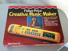 Vintage 1986 #Fisher Price Creative Music Maker Mic Recorder & Stand#NIB