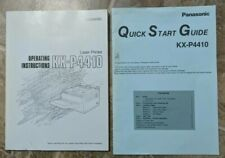 Panasonic Laser Printer KX-P4410 manual Instructions Book