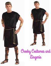 Roman Warrior Caesar Spartan Greek Toga Costume inc FREE Wreath