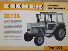 Original Traktor Eicher Prospekt 4038