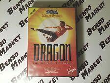 DRAGON THE BRUCE LEE STORY - SEGA MASTER SYSTEM 8 BIT PAL ITALIANO COMPLETO RARO