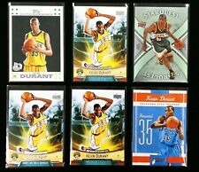Lot Of 6 Including 2007-08 Topps Kevin Durant White Boarder Rookie 2 /14 + More