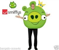 Smiffy's Angry Bird Adult Fancy Dress Party Green Costume Clothes Clearance