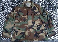 Army Woodland Camo Jacket Shirt uniform SMALL SHORT