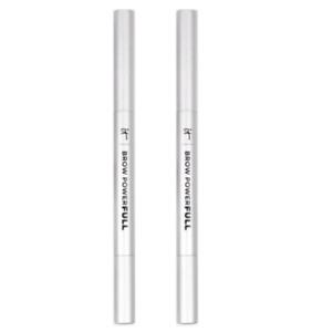 2X It Cosmetics Brow Powerfull Volumizing Eyebrow Pencil UNIVERSAL TAUPE NEW
