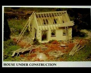 NEW~ Bachmann Plasticville USA House Under Construction Building Kit SEALED BOX