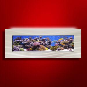 NEW! ORIGINAL AUSSIE AQUARIUM - VISTA BRUSHED ALUMINUM WALL MOUNTED FISH TANK