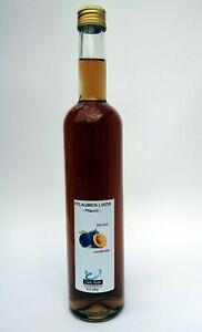 Pflaumenlikör, Likör, Spirituose, 0,5 Liter Glasflasche