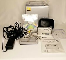 Nikon COOLPIX S6 6.0 MP Digital Camera - Silver w/ Charger Manual Bag and More!