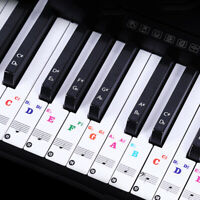 For 37/49/88/61/54 Keys Piano Stickers Label Transparent Digital Keyboard