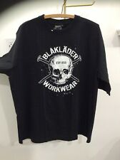 Brand New XL Black BLAKLADER WORKWEAR T Shirt W/ Skull & Nail Design
